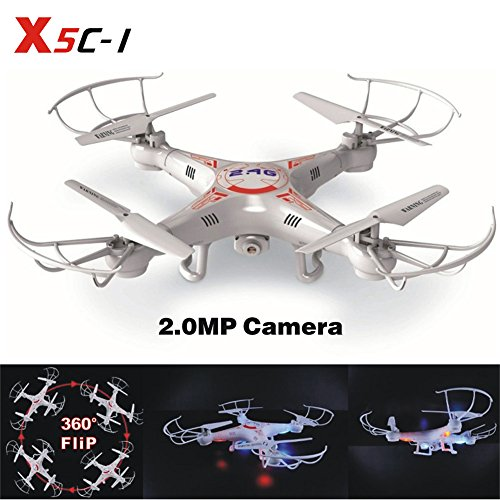 LAMASTON X5C-1 2.0MP HD Camera RC Quadcopter Kit With Bonus Battery RC Helicopter 2.4G Headless One Key Home Remote Control Drone Airplane Toy For Christmas Gift